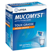 MUCOMYST 200 mg Poudre pour solution buvable en sachet B/18 à Bassens