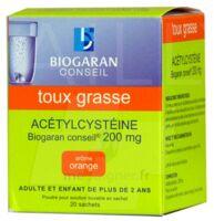 ACETYLCYSTEINE BIOGARAN CONSEIL 200 mg Pdr sol buv en sachet B/20 à Bassens