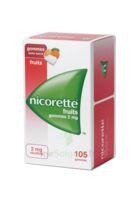 Nicorette 2 mg Gomme à mâcher médicamenteuse sans sucre fruits Plq/105 à Bassens