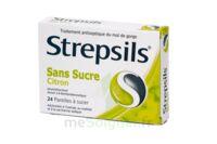 STREPSILS CITRON SANS SUCRE, pastille édulcorée à l'isomalt, au maltitol et à la saccharine sodique à Bassens