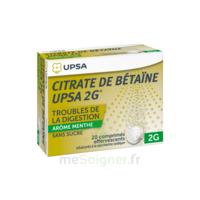Citrate De Bétaïne Upsa 2 G Comprimés Effervescents Sans Sucre Menthe édulcoré à La Saccharine Sodique T/20 à Bassens