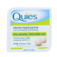 QUIES PROTECTION AUDITIVE CIRE NATURELLE 8 PAIRES à Bassens