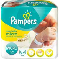 PAMPERS COUCHES NEW BABY MICRO 1-2,5 KG x 24 à Bassens
