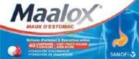 Maalox Maux D'estomac Hydroxyde D'aluminium/hydroxyde De Magnesium 400 Mg/400 Mg Sans Sucre Fruits Rouges, Comprimé à Croquer édulcoré à La Saccharine Sodique, Au Sorbitol Et Au Maltitol à Bassens