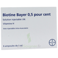 BIOTINE BAYER 0,5 POUR CENT, solution injectable I.M. à Bassens