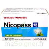 Nicopass 1,5 Mg Pastille Sans Sucre Menthe Fraîcheur Plq/96 à Bassens
