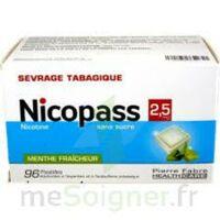 Nicopass 2,5 mg Pastille menthe fraîcheur sans sucre Plq/96 à Bassens