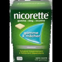 NICORETTE 2 mg Gom à mâcher médic sans sucre menthe fraîche Plq/105gom à Bassens