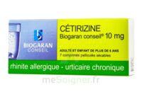 CETIRIZINE BIOGARAN CONSEIL 10 mg, comprimé pelliculé sécable à Bassens