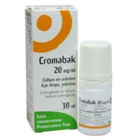 CROMABAK 20 mg/ml, collyre en solution à Bassens