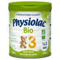 Physiolac Lait Bio 3eme Age 900g à Bassens