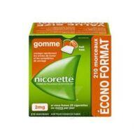 Nicorette 2 Mg Gomme à Mâcher Médicamenteuse Sans Sucre Fruits Plq/210 à Bassens