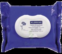 Klorane Soins des Yeux au Bleuet Lingette démaquillante biodégradable 2*Packs/25 à Bassens