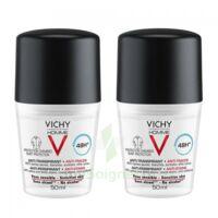 Vichy Homme Déodorant anti-transpirant anti trace 48H 2*Billes/50ml à Bassens