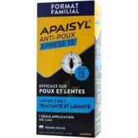 Apaisyl Anti-poux Xpress 15' Lotion antipoux et lente 100ml+peigne à Bassens
