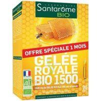 Santarome Bio Gelée royale 1500 Solution buvable 30 Ampoules/10ml à Bassens