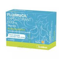 Fluimucil Expectorant Acetylcysteine 600 Mg Glé S Buv Adultes 10sach à Bassens