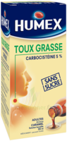 Humex 5 % Solution Buvable Expectorant Sans Sucre Adulte Fl/250ml à Bassens