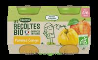 Blédina Les Récoltes Bio Pommes Coings 2 Pots/130g à Bassens