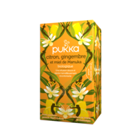 Pukka Bio Citron, Gingembre Et Miel De Manuka Tisane Immunité Citron Gingembre Miel De Manuka 20 Sachets à Bassens