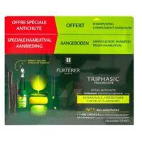 René Furterer Triphasic Progressive Sérum Antichute Coffret 8 Flacons X 5,5ml + Shampoing Stimulant 100 Ml à Bassens
