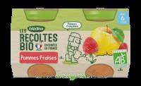 Blédina Les Récoltes Bio Pommes Fraises 2 Pots/130g à Bassens